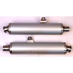 Aluminium round silencers