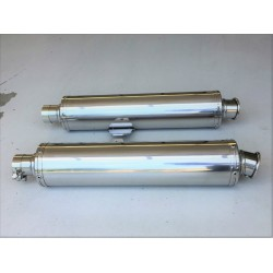 Inox round silencers - Polished finish